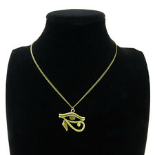 "6-2 New Bronze Egyptian Eye of Horus Ra Amulet Pendant Choker Short Necklace 18"""