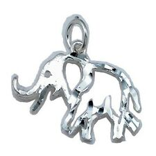 Stunning Elephant Charm Sterling Silver 925 Modern Animal Fashion Jewelry Gift