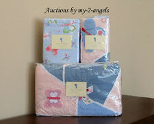 Pottery Barn Kids Sophie Butterfly Twin Quilt+Sham+Sheet Set+Wall Art PINK/BLUE