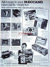1970 MECCANO Advert Power Units, Motors & Mechanism Sets - Vintage Print Ad