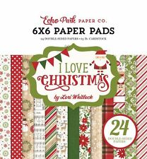 "ECHO PARK ""I LOVE CHRISTMAS"" 6X6 PAPER PAD  SANTA WINTER SCRAPJACK'S PLACE"