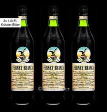 FERNET BRANCA Kräuter Bitter Likör - 3 Flaschen à 1,0l - Digestif  Milano Mule