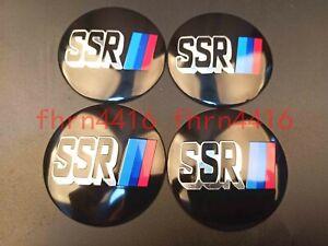 4x56mm Black SSR Wheel Center Cap Badge Hub Cover Emblem Sticker For Chevrolet