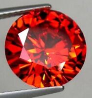 8MM 3.02CT AAAAA Natural Round Padparadscha Zircon Diamonds Cut VVS Loose Gems