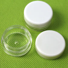 100 Small Mini cream jar,cosmetic bottle,sample jars Packaging White cover 3g