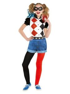 Child Harley Quinn Suicide Squad Fancy Dress DC Harlequin Costume Girls Kids
