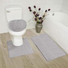 Mk Home Collection 3 Piece Bathroom Rug Set Bath Rug, Contour Mat Lid Cover No
