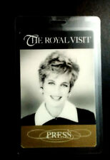 Princess Diana Press Pass Rare Otto Pass From Her Visit to Chicago in 1996