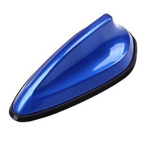 Blue Shark Fin Car Auto Antenna Radio FM Signal Aerial Roof Receiver Accessories