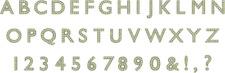 QUICKUTZ   Spotlight Grand Unicase Alphabet Set CC-SPOTLIGHT-G