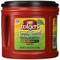 Folgers Simply Smooth Ground Coffee, Medium Roast, 31.1 Ounce