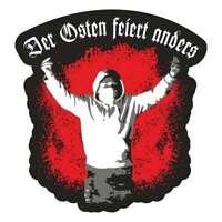 Aufkleber Wetterfest Der Osten feiert anders Ostdeutschland Ultras Hools Stadion