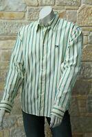 Moschino Men's 100% Cotton Light Yellow Striped Shirt Size L Free P&P New w Tags