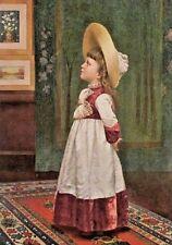 Child, Victorian, I've Found Papa's Picture, Vintage 1890 Antique Art Print CUTE
