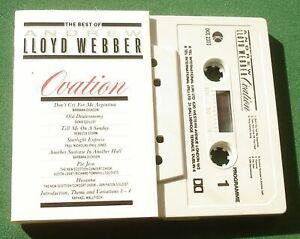 Best Of Andrew Lloyd Webber Ovation Requiem Cats Joseph + Cassette Tape TESTED