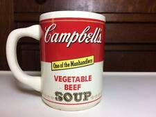 """Vintage Campbell's Soup Vegetable Beef """"One of the Manhandlers"""" Coffee Mug"""