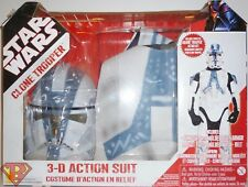 CLONE TROOPER Star Wars 3-D Action Suit Costume Boys Size 4-6 Rubie's