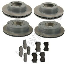 Front and Rear Disc Brake Pads Rotors KIT Genuine For Toyota Land Cruiser LX570