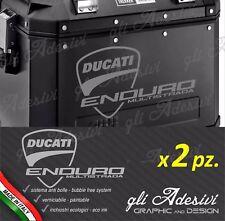2 Adesivi per valigie GIVI Trekker Ducati Multistrada ENDURO borse nere logo big