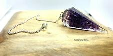 Amethyst stone Orgone Dowsing Pendulum Crystal Healing Divination Reiki Therapy