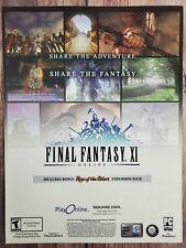 Final Fantasy XI Online PC Playstation 2 PS2 Promo Ad Art Print Poster - 11