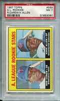 1967 '67 Topps Baseball #569 Rod Carew Rookie Card RC Graded PSA Nr MINT 7