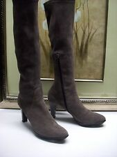 Aquatalia by Marvin K Rhumba Weatherproof SUEDE Boot Size 8.5 $725 Gray Color