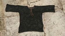 chainmail hauberk haugergeon black medieval LARP reenactment shirt armour