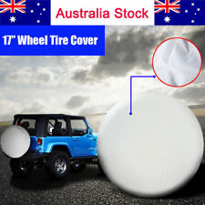 17 Inch 4x4 4WD White Spare Wheel Cover Tyre Fit Car Tire Diameter 80~83cm 32""