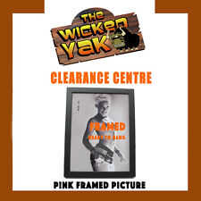 PINK Black & White Framed Picture Ready to Hang 24cm W x 33cm H-NEW!