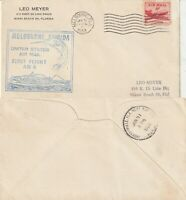 US 1953 AM 6 FIRST FLIGHT FLOWN AIR MAIL COVER MELBOURNE FLA TO JACKSONVILLE FLA