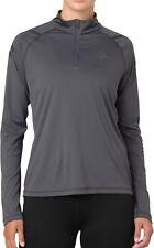 Asics Icon Half Zip Long Sleeve Womens Running Top - Grey