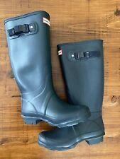 Hunter Women's Huntress Rain Boots Navy Size 6 EU37