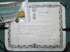INDOCHINE MEDAILLE MILITAIRE + ATTESTATION DE VOL POUR SAIGON 1955