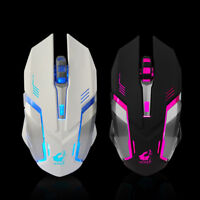 Rechargeable Wireless Silents LED Backlit USB Optical Ergonomic Gaming Mouse UK