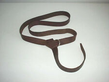 "Leather Renaissance Medieval SCA LARP CELTIC belt brown hand made  4 cm (1-1/2"")"