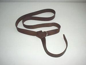 "Leather Renaissance Medieval SCA LARP CELTIC belt brown hand made  4 cm (1-1/2"")"