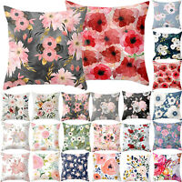 Square Floral Pillow Case Waist Throw Cushion Cover Home Decor Sofa Bed
