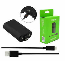 Black Charging Cable + Rechargeable Battery For Microsoft XBOX ONE Controller