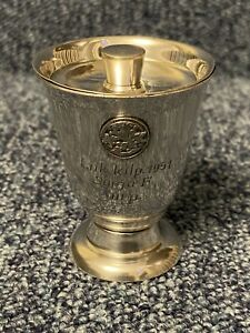 White Metal Silver Coloured Pot & Lid. Kiddush Cup & Lid ???