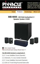 Pinnacle Mb6000 New in Box! $1000 Home theater speakers set!