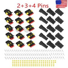 15 Kits 2+3+4 Pins Way Car Auto Sealed Waterproof Electrical Wire Connector Plug