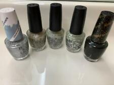 Opi Nail Polish Lot Set of 5 Silver Glitter Black Shades Fs New Some Disc Htf A