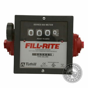 """USED Fill-Rite 901C 1"""" 6-40 GPM 4 Digit Mechanical Fuel Transfer Meter"""
