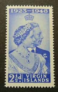 BRITISH VIRGIN ISLANDS 1949 SG124 2½d. ROYAL SILVER WEDDING -  MNH