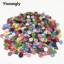 1000pcs Mixed 6mm Mini Tiny Buttons Heart Flower Star Resin Round Sewing Doll Cl