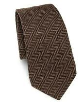 Ralph Lauren Purple Label Handmade Brown Cashmere Mulberry Silk Tie New $250