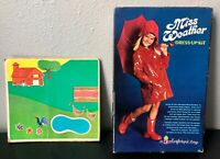 Vintage Colorforms Miss Weather Dress Up Kit Clings And Farm Set