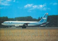 TEA Trans European Airlines Brussels Boeing 707 Colour postcard