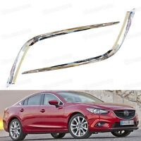 2pcs Chrome Front Fog Lamps Light Strip Cover Trim for Mazda 6 Atenza2013-2015